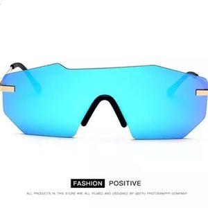 Accessories - Vintage Shield Rimless Sunglasses - Unisex